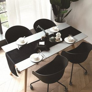 Solide Couleur simple Nordic Velvet Table Table Runner Meuble TV Tissu Simple Tissu chinois lit Drapeau c9Iv #