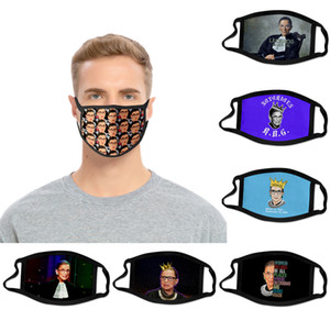 Fashion design adult child Ruth Bader Ginsburg Justices of the United States mask dustproof printed washable reusable polyester mask