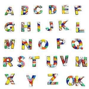 20200816 fatti a mano colore perline 26 lettere adesivi di stoffa accessori di abbigliamento vestiti borsa a mano cucitura adesivi