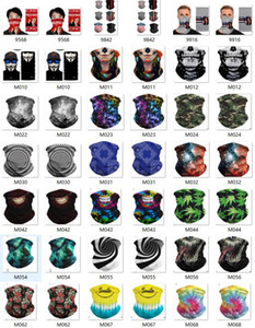 Scarf Bandanas Neck Gaiter with Safety Filters Bicycle Bandanas Scarf Designer HeadbandWashable Protective Dustproof Face Mask Solid Color