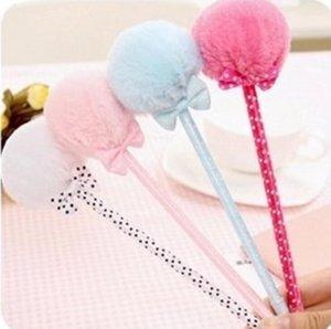 random offer Speciale bella cancelleria del Sud Corea di Bowknot peluche regalo Penna a sfera pen G885
