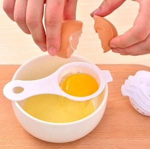 Yumurta Beyaz Aracı Yumurta Sarısı Ayırıcı Beyaz Sarısı Filtrasyon İzolasyon Yumurta Bölücüler LJJA907 Leaking Mutfak Aksesuarları Uzun Sap Plastik