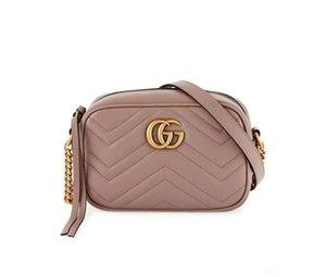 Top design de luxe GG Mode Femmes en cuir véritable mini-Marmont d'or sacs à main épaule sac sac avec des numéros de série Box