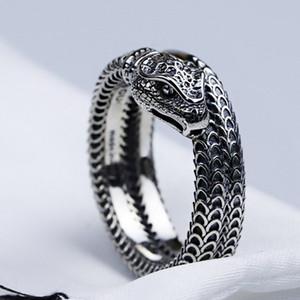 Las mujeres de los hombres de la serpiente del anillo de dedo con el anillo de la serpiente sello Animal para joyería y accesorios del regalo del partido de la alta calidad