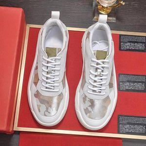 Haute Qualité Gumboy Calfskin Sneaker Men # 039 S Chaussures Calzado Deportivo Para Hombre légère mode luxe dentelle -Jusqu'à Low Top M Casual