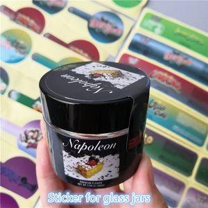 Barattolo di vetro Biscotti Runtz Etichette in PVC per 2oz 60ml Bambini di vetro per bambini Gary Payton Cookies London Sterlina Adesivi Torchi Giungla Boyz Etichette