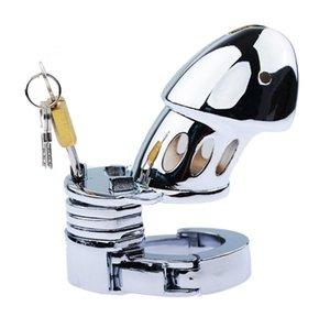 Maschio Castity Regolabile Metal Device Device Cage Belt Sex Cazzo Riscaldamento con giocattoli PENIS Chastity Men Block Lock CFBCS