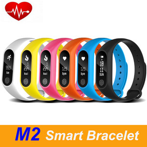 M2 Smart Bracelet Heart Rate Monitor bluetooth Smartband Health Fitness Tracker Smart Band Wristband for Android iOS Free shipping