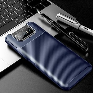 Carbon Fiber Design TPU Cell Phone Cases For Zenfone 7 Pro Huawei Mate 40 Samsung Galaxy Note 20 Ultra Iphone Shockproof Mobile Cover