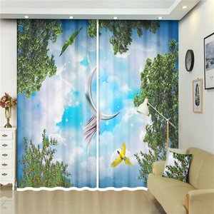 Modern Luxury 3D Window Blackout landscape Curtains Drapes Living Office Hotel Wall Tapestry Smooth drape Cortinas Custom size