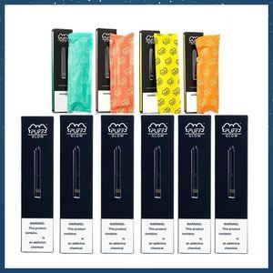 Hot PUFF BAR GLOW Einwegvorrichtung Pods Starter Kit 280mAh Akku 1,4 ml Patrone Vape Pen Sicherheits-Code LED-Licht Vaporizer Vorgefüllte