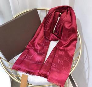Brand New шарф для женщин Luxury Letter Pattern шелк шерсть Кашемир золото нить Дизайнер Толстые Платки Теплые шарфы Размер 180X70CM Верхнее качество