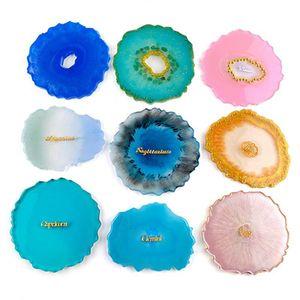 Silicone Copa bandeja Mold resina epóxi Mold Big Irregular Aceno Jóias Coaster Shaped Fazendo Craft Food Grade DIY Moldes IIA567