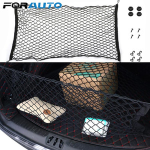 Universal Car Trunk Rear Storage Cargo Luggage Nylon Elastic Mesh 90x40 CM 110x50 CM Net Holder With 4 Plastic Hooks Pocket New