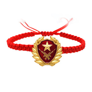 Armed Police Bow Tie Bracelet Military Military Love Remote Couple Gift Souvenirs to Send Military Sister-in-Law Hand Jewelry Veteran Woven