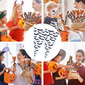 heureux citrouille d'Halloween sacs de bonbons en plastique Halloween sac cadeau casse-croûte emballage sac de chocolat de bonbons ou un sort sacs en plastique