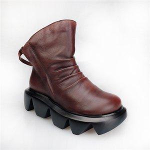 Frauen add Beflockung Stiefel Winter-Mode Leder Mädchen kurze Stiefel ms warme Leder # 39 Mädchen zu halten