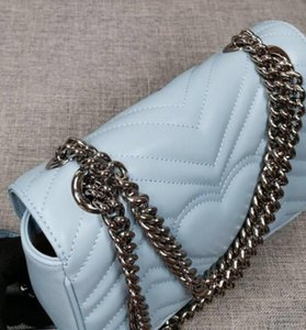 Chain Bag for Women Small Flip Bag New Fashion Shoulde Crossbody Bag Messenger Silver Chain Marmont Bags Handbags Tote Bags Free Shopping
