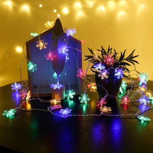 2020 Yeni LED Kar Tanesi Dize Işıklar Kar Peri Garland Dekorasyon Noel Ağacı Için Yeni Yıl Odası Sevgililer Günü Pil USB Kumandalı