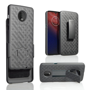 Caja de la armadura magnética resistente híbrido pata de cabra Anillo de Soporte de coche para Motorola Moto Edge Plus E6 Z4 Juego G7 Z2 Z3 cubierta clip de la correa