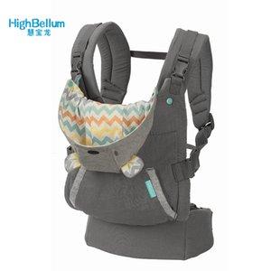 Baby Carrier Sling portatili spalle Bambino Bretelle Zaino ispessimento 360 ergonomico con cappuccio Kangaroo Baby Carrier