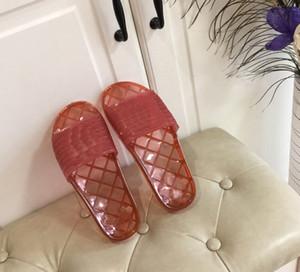 De calidad superior Francia transparente PVC zapatillas para mujer para hombre verano sandalias zapatillas de playa del color del caramelo señoras de las chancletas de sandalias