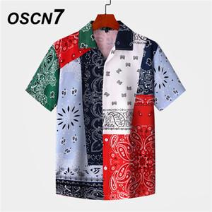 OSCN7 beiläufige gedruckte Kurzarmhemd Männer Straße Hawaii Strand Aufmaß Frauen arbeiten Harujuku Shirts für Männer MX006 200925