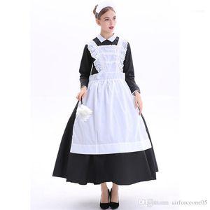 Платья Halloween Женщины Домработница Тема Костюм баварского Nation костюм театра Sexy Maid Night Club Cosplay