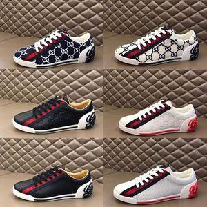 Gucci shoes de deporte de los hombres impresos diseñador de malla slip-on de lujo zapatos casuales de moda de señora zapatillas de deporte respirables mixtos