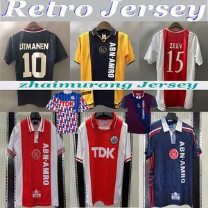 97 98 Ajax Red Retro Edition Soccer jerseys 94 95 04 05 Ajax LITMANEN KLUIVERT DE BOER SEEDORF DAVIDS 1990 00 01 Football shirt uniform