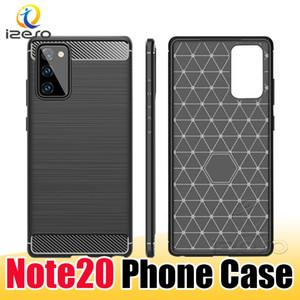 삼성 Note20 S20 A51 세대 A21S 화웨이 P40 메이트 (30) 프로 원 플러스 8 충격 방지 휴대 전화 커버 izeso에 대한 탄소 섬유 텍스처 케이스
