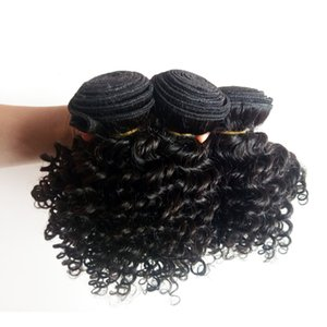 Brazilian Virgin human hair weft Kinky Curly hair extension 8-18inch beauty Short Bob Style Indian remy Hair weaves no tangle and shedding