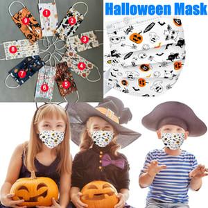 Halloween Natal dos desenhos animados crianças Designer Máscaras Moda Criança da máscara Crianças 3 camada de máscara descartável Meninos de protecção Meninas Mascarilla