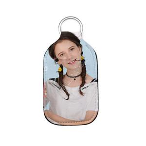 Пустой Сублимация ключ Holderl дезинфицирующее средство для рук бутылки случая DIY Plain White Неопрен Духи Бутылки Сумка Keychains Подвеска D92502