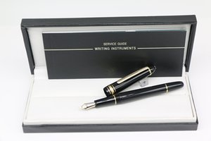 145 Fountain pen gold trim Classique Platinum Line LeGrand with High quality black resin fine star
