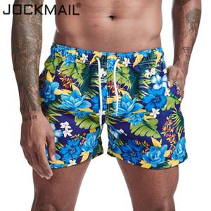 Stampato bicchierini del bordo di Quick Dry Beach Shorts Costume Maschile Bikini Surf pantaloncini corti JOCKMAIL Uomo