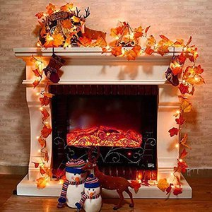 LED String Light Battery Operated Autumn Stair Garden Led Lights Thanksgiving Days Christmas Tree Decoration