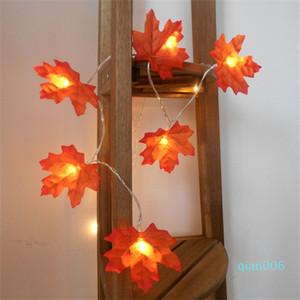 Vendere foglie di acero lampada LED String Light Up Giocattoli Luci Halloween Catena Camera Battery decorativo libera calda con l'alta qualità 4 9md J1