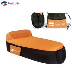 1 قطعة من نفخ أريكة كيس النوم وسادة مدمجة في الهواء الطلق طلاء مقاوم للدموع مواد البوليستر للماء المحمولة