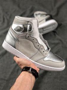 2020 NUOVO 1 Retro alta OG i pattini Pallacanestro Giappone Grey uomini Trainer Sport Sneakers DC1788-029