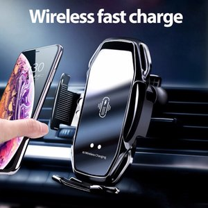 A5S Car Bracket Phone Sta wireless charger Holder Automatic Sensor Car Phone Holder Wireless Charger Phone Car Holder Mobile Stand Mount