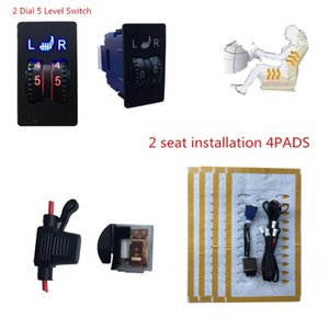 2 seats installed Seat Covers warm heated seats Automobiles universal Alloy wire Heated Seat Heater 12V 2 Dial 5 Level Switch