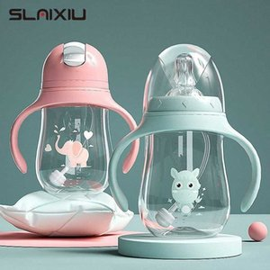 Baby bottles Feeding Bottle Wide-Caliber Multifunctional Drinking Cup Drinking Milk Water Dual-use Bottle BPA Free ln2t#