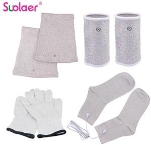 TENS Проводящий Silver Fiber / EMS Электрод Лечение перчатки + носки + наколенники наручи Точечное устройства Аксессуары 2.5mm