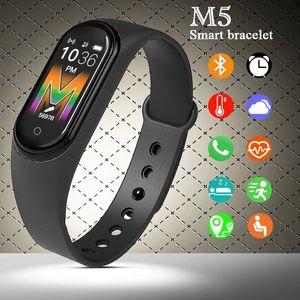 "M5 intelligente Bracciale AMOLED 1.0"" schermo variopinto frequenza cardiaca di salute monitoraggio Bluetooth 5.0 Fitbit sport impermeabili intelligente braccialetto"