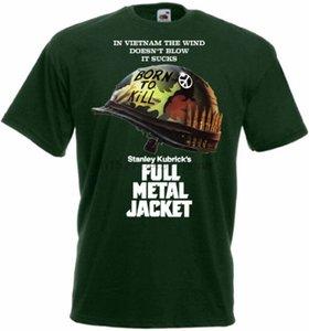 كامل METAL JACKET ملصق الفيلم T القميص الأخضر جميع المقاسات