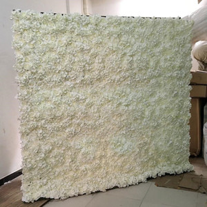 Upscale Wedding Backdrop Centerpieces Flower Wall 2.4 by 2.4 meters Silk Flower Row for Party Xmas Home Decor