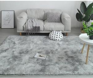Gradient Massiv Teppich Dickere Teppiche Anti-Rutsch-Matte Badezimmer Oberfläche Teppich für Wohnzimmer weiche flaumige Kind Schlafzimmer Mats Rosa alfombraac1d #