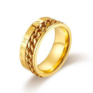 2020 New Fashion Gold Silver Color Band Anillo para los hombres Party Gift Jewelry Drop Shipping Moonso R5221