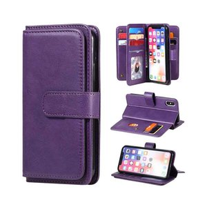Premium PU Leather Wallet Case For iPhone X 2017 Xs 2018 5.8inch Flip Folio Kickstand ID Credit Card Pockets Cover for iphone 11 Pro Max 8